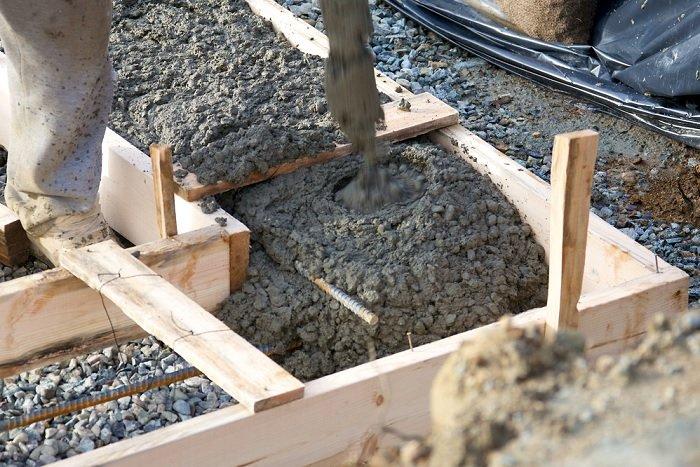 Использованный бетон смещать бетон